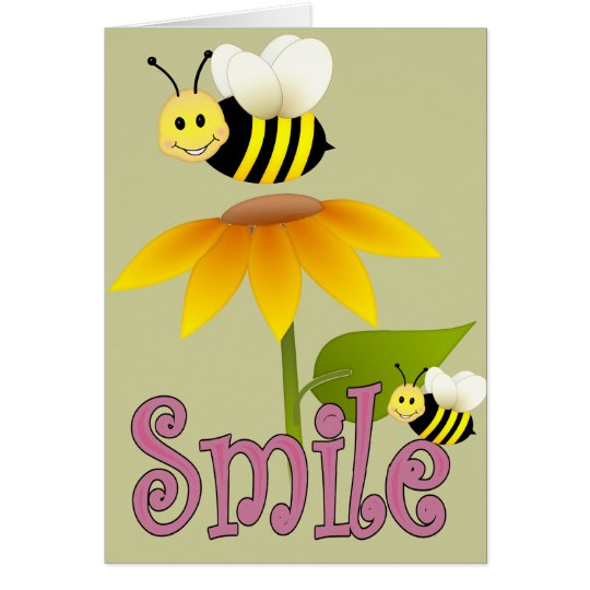 Smiling Bee Card