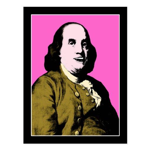 Smiling Ben Franklin ala Style Post Cards