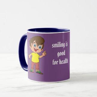 smiling boy mug