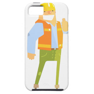 Smiling Builder Showing Thumbs Up On Construction iPhone 5 Cover