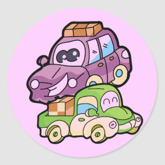 Smiling Car and Truck T-shirts and Gifts Classic Round Sticker