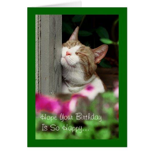 Smiling Cat Birthday Card