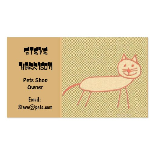 Smiling Cat Business Cards