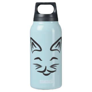 Smiling Cat Face Insulated Water Bottle