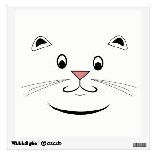 Smiling Cat Face Wall Decal