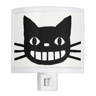 Smiling Cat with Long Whiskers Night Lite