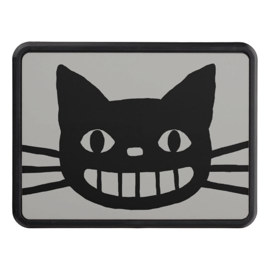 Smiling Cat with Long Whiskers Trailer Hitch Cover