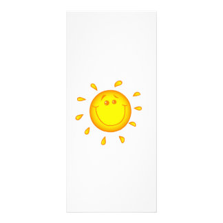 SMILING CHEERFUL SUNSHINE SUN HAPPY SUMMER PERSONALIZED RACK CARD