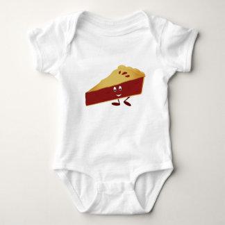 Smiling cherry pie slice baby bodysuit