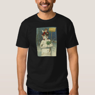 Smiling Cherub Snowman Shamrock Songbird Tshirts