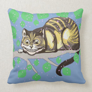 Smiling Cheshire Cat 2 Throw Pillow