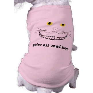 Smiling Cheshire Transparent Cat Dog Tee