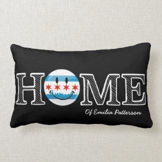 Smiling Chicago Flag Housewarmer Lumbar Pillow
