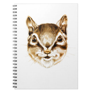 Smiling Chipmunk Small Notebook