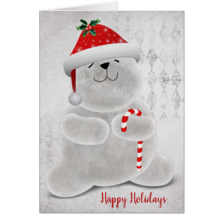 smiling Christmas polar bear Card