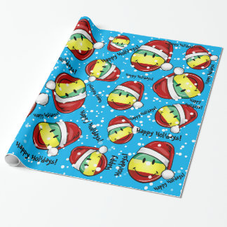 Smiling Christmas Style Rastafarian Flag Wrapping Paper