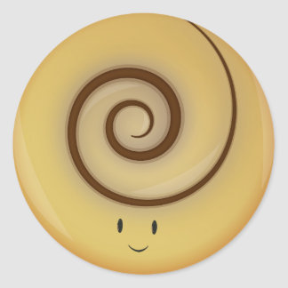 Smiling Cinnamon Roll Above | Sticker