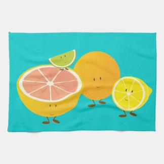 Smiling citrus group kitchen towel