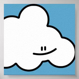 Smiling Cloud Print