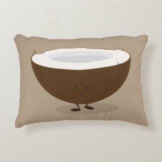 Smiling Coconut Accent Pillow