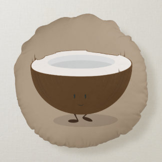 Smiling Coconut | Round Pillow