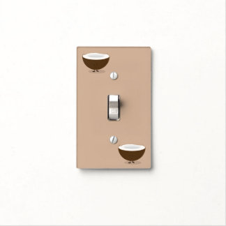 Smiling Coconuts at corners Light Switch Cover