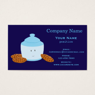 Smiling Cookie Jar with Cookies Business Card