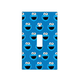 Smiling Cookie Monster Pattern Light Switch Cover