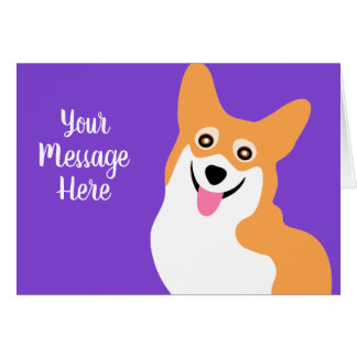 Smiling Corgi Birthday Custom Text Card