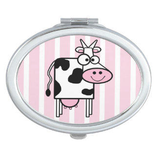 Smiling Cow Girly Animal Print Mirror For Makeup