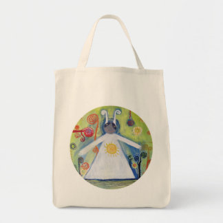 Smiling Creauture Hug Sun Abstract Art  Tote Bag