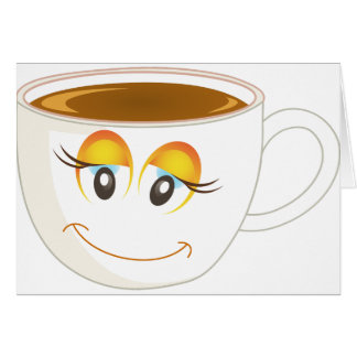 Smiling Cup of Coffee - Female Card