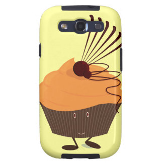 Smiling cupcake with orange frosting samsung galaxy s3 cover