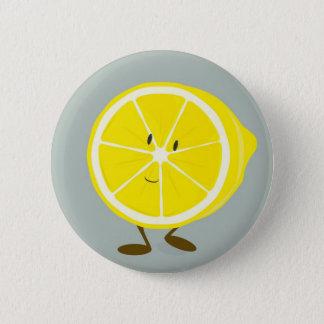 Smiling cut lemon 2 inch round button