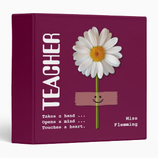Smiling Daisy Custom Gift Binders for Teachers