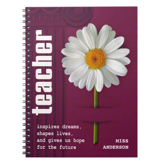 Smiling Daisy  Custom Gift Notebooks for Teachers