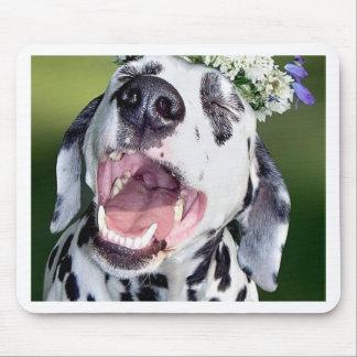Smiling Dalmatian Dog Mouse Pad