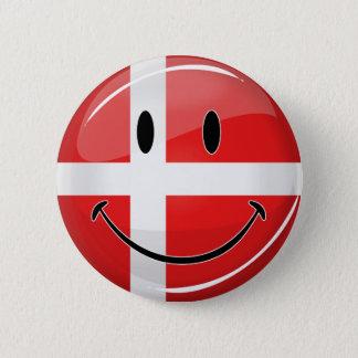 Smiling Denmark Flag 2 Inch Round Button