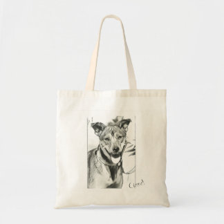 Smiling Dog 'Cheeese' Tote Bag