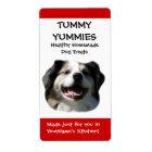 Smiling Dog Doggie Treats Kitchen Label Sticker