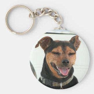 Smiling Dog keychain