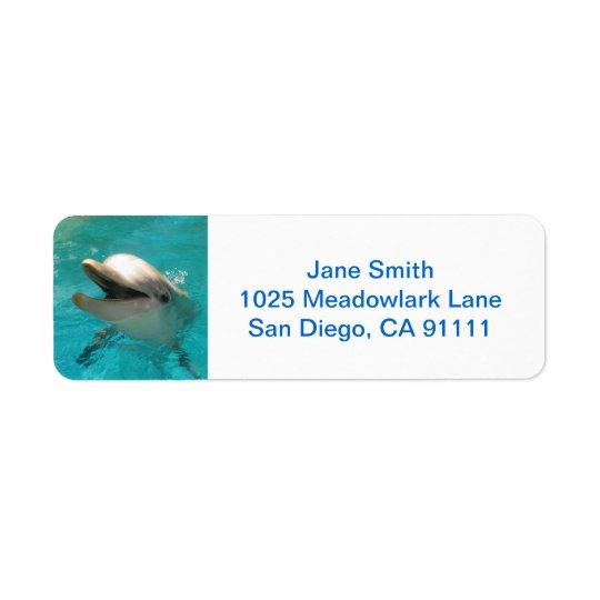 Smiling Dolphin Return Address Label