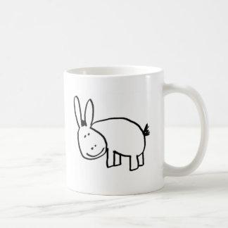 smiling donkey black coffee mug