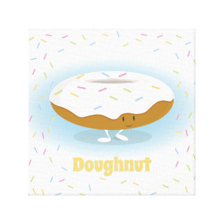 Smiling Donut with Sprinkles | Canvas Art