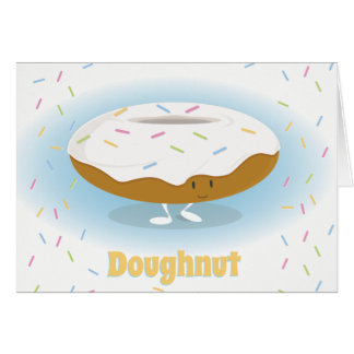 Smiling Donut with Sprinkles | Greeting Card