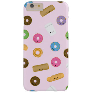 Smiling Donuts and Coffee Pink iPhone iPad Case