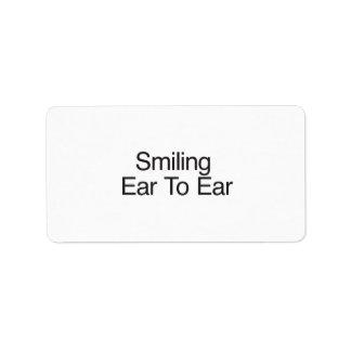 Smiling Ear To Ear Custom Address Label