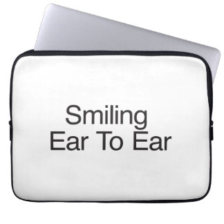 Smiling Ear To Ear Laptop Sleeve
