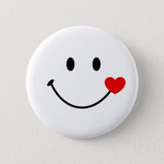Smiling face 2 inch round button