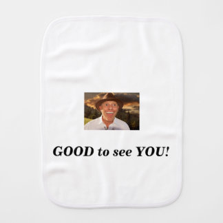Smiling face burp cloth